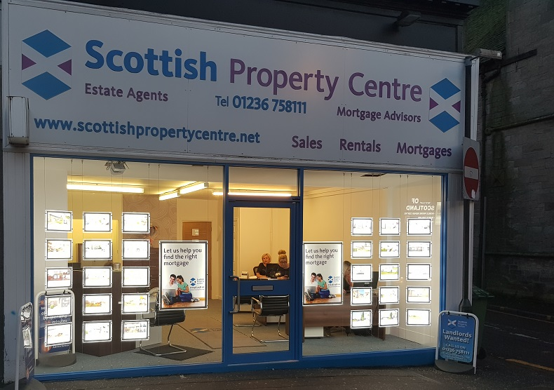 LED Illuminated Window Property Displays, Airdrie, North Lanarkshire