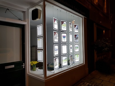 LED Illuminated Estate Agents Property Display, Jedburgh