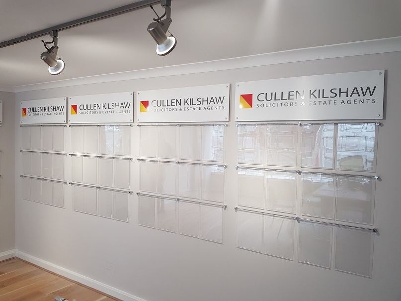 Internal Signs, Property Displays and logo sign panels in Peebles
