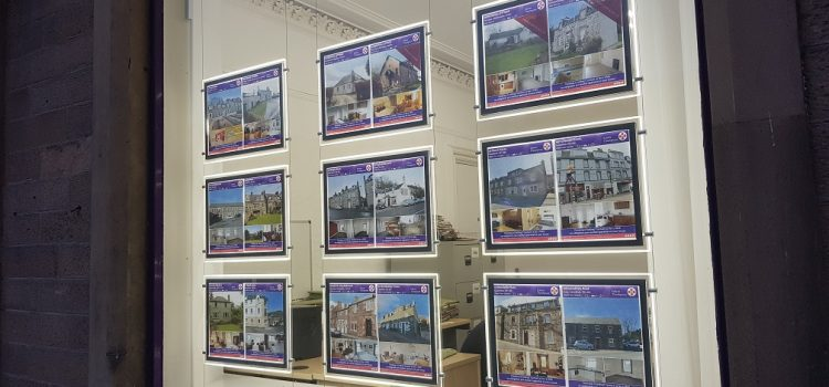 LED Estate Agents Property Displays in Galashiels Borders Scotland and North England